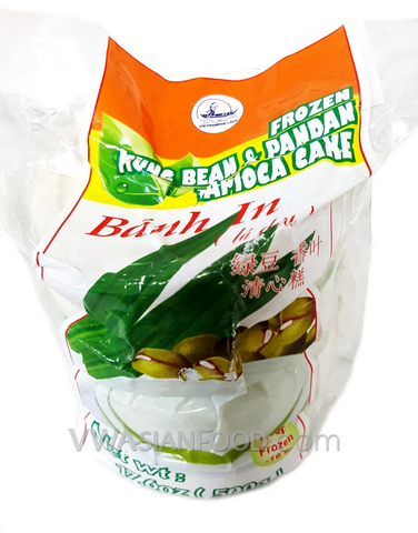 Vietnamese Lady Mung Bean Cake (Pandan) 17.6 oz, 4 Pc (36-Count)