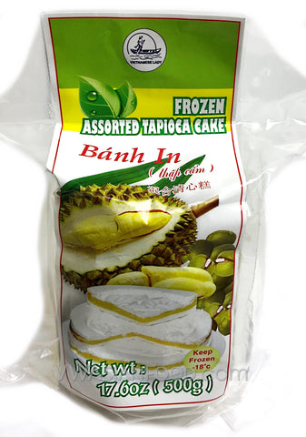 Vietnamese Lady Mung Bean Cake (Durian, Pandan) 17.6 oz, 4 Pc (36-Count)