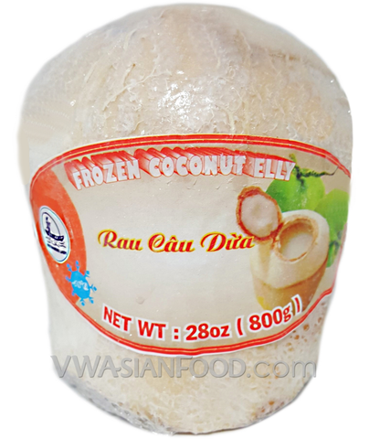 Vietnamese Lady Frozen Coconut Jelly  (Rau Câu Dừa ), 28 oz (12-Count)