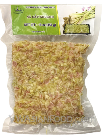 Vietnamese Lady Frozen Slided Lemon Grass Bag (Sả Cắt Khoanh), 16 oz (30-Count)