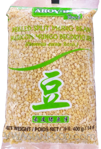 Aroy-D Mung Bean Peeled Split, 14 oz (50-Count)