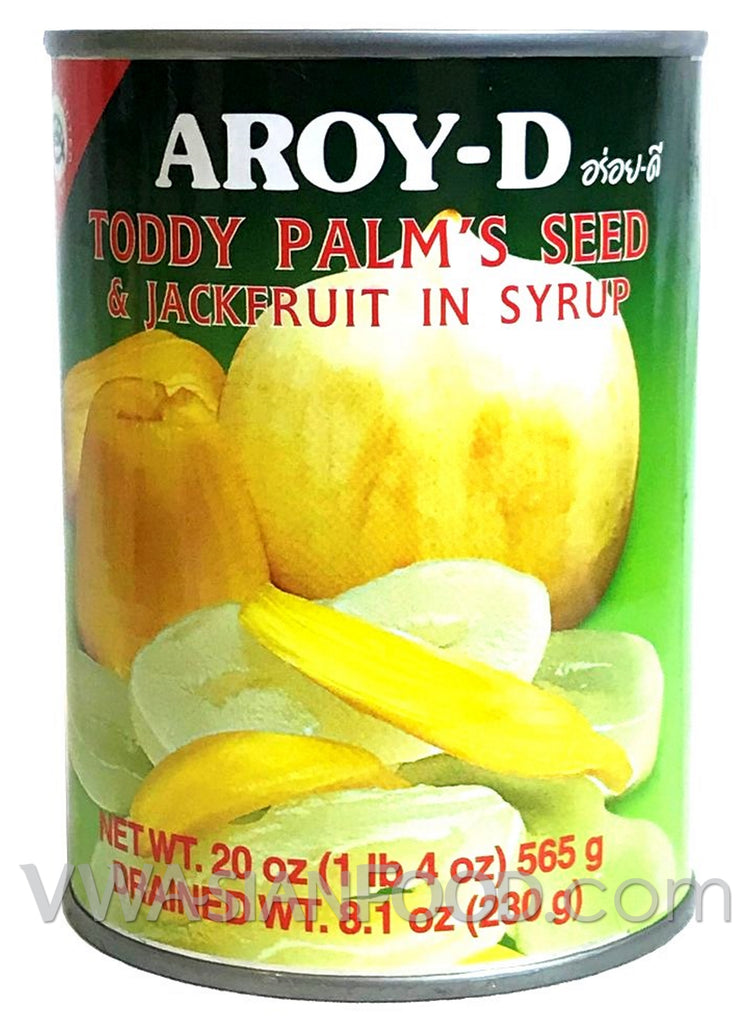 Aroy-D Toddy Palm's Seed and Jackfruit in Syrup, 20 oz (24-Count)