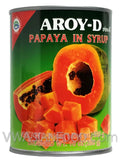 Aroy-D Papaya in Syrup, 20 oz (24-Count)