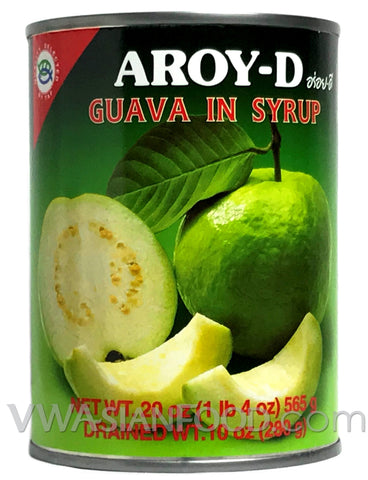 Aroy-D Guava in Syrup, 20 oz (24-Count)