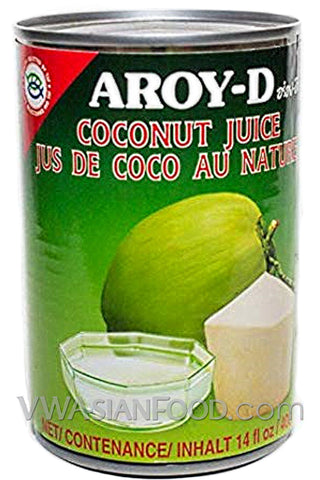 Aroy-D Coconut Juice, 14 oz (24-Count)