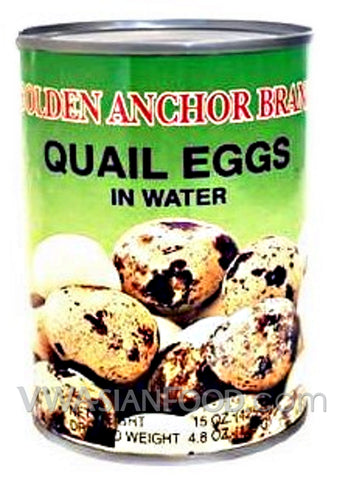 Golden Anchor Quail Eggs in Water, 15 oz (24-Count)