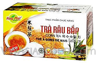 Hung Phat Corn Tea (Tra Rau Bap) 1.75 oz, 10-Boxes (10-Packs)