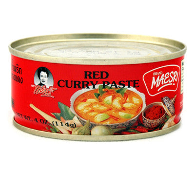 Maesri Red Curry Paste, 4 oz (48-Count)