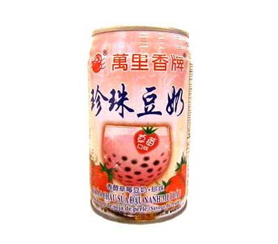 Mong Lee Shang Pearl Soybean Drink (Strawberry), 11 oz (24-Count)