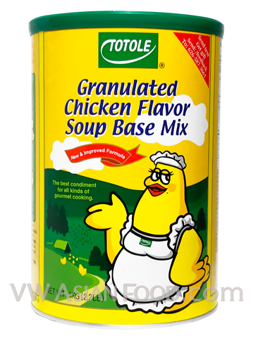 Totole Granulated Chicken Flavor Soup Base Mix, 2.2-Pound Can (12-Count)