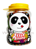 ABC Assorted Fruit Straws Filled Container (Panda), 3.6-Pound (6-Count)