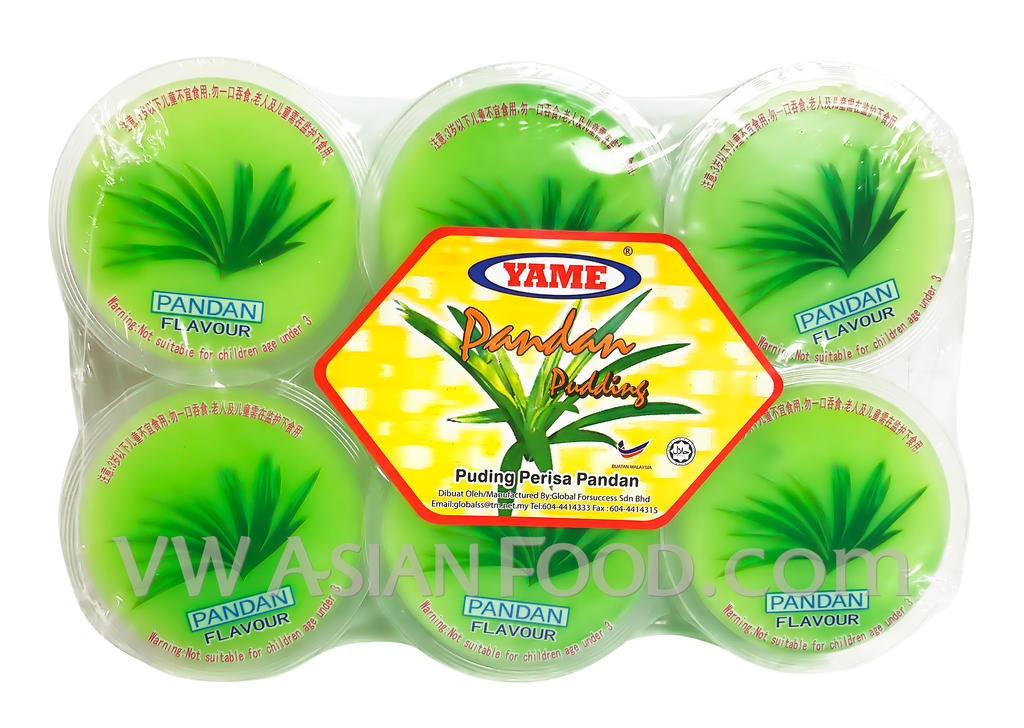 Yame Pandan Pudding 23.2 oz, 6-Cups (12-Packs)