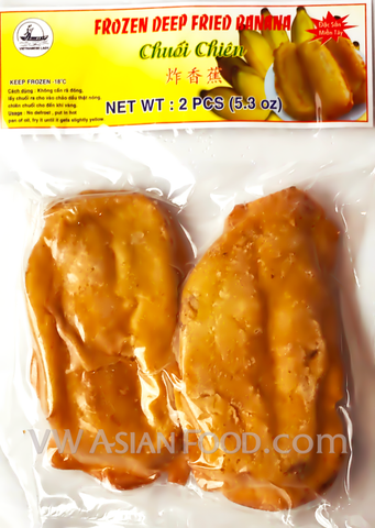 Vietnamese Lady Frozen Deep Fried Banana, 5.3 oz (48-Count)