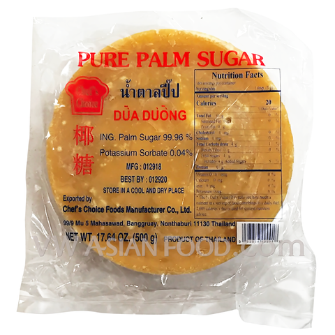 Chef's Choice Palm Sugar 17.64 oz, 1-Piece (30-Count)