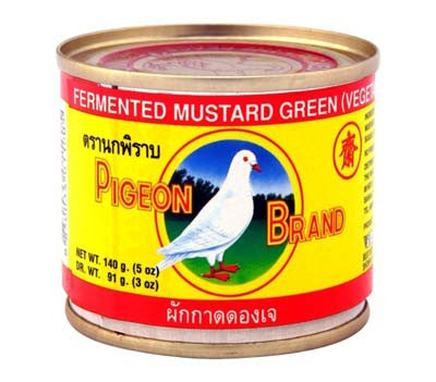Pigeon Fermented Vegetarian Mustard Green, 5 oz (48-Count)