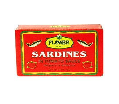 Flower Sardines in Tomato Sauce, 4.38 oz (50-Count)