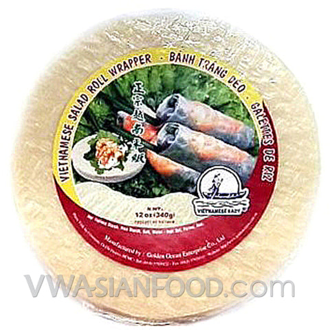 Vietnamese Lady Rice Paper (Bag-31cm), 12 oz (40-Count)