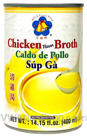 Bells & Flowers Chicken Flavor Broth Small (Soup Ga), 14.15 oz (24-Count)