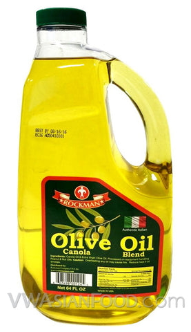 Rockman Olive Oil Canola Blend, 64 oz (8-Count)