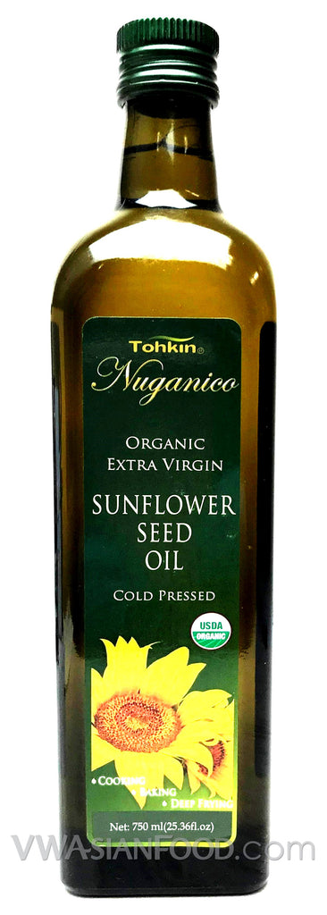 Tohkin Nuganico Organic Sunflower Seed Oil (Cold Pressed), 23.36 oz (6-Count)