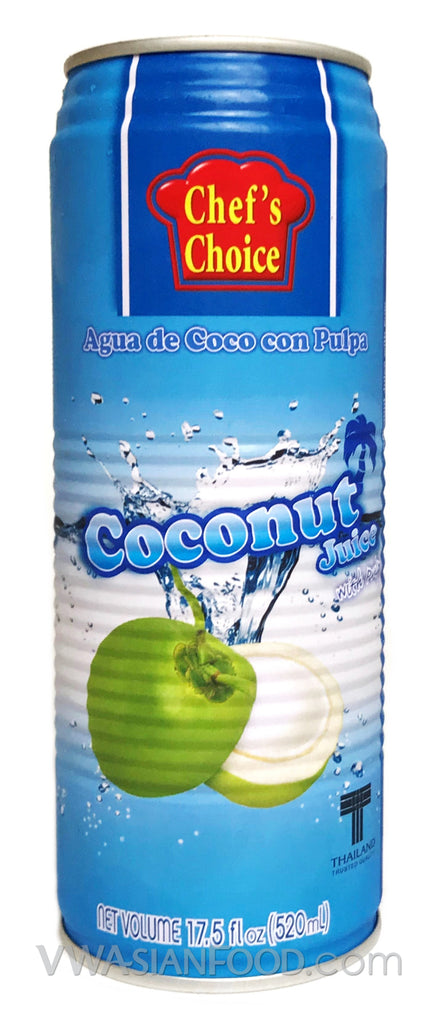 Chef's Choice Coconut Juice, 17.5 oz (24-Count)