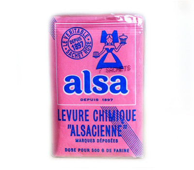 Alsa French Baking Powder 0.38 oz (7-Pouches), 20-Packs (10-Count)
