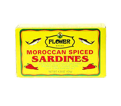 Flower Moroccan Spiced Sardines, 4.38 oz (50-Count)
