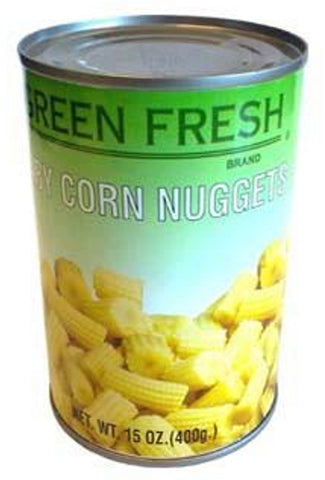 Green Fresh Baby Corn (Cut), 15 oz (24-Count)