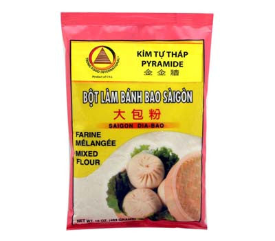 KTT Saigon Mixed Flour (Bot Banh Bao), 16 oz (50-Count)