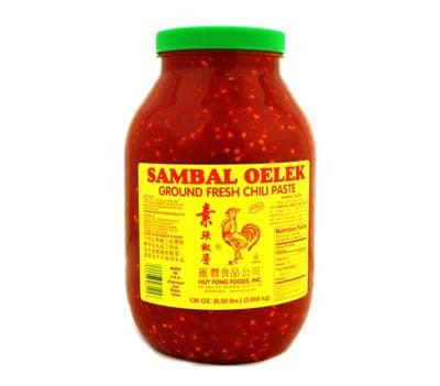 Huy Fong Sambal Oelek Ground Fresh Chili Paste, 8.5-Pound Jar (4-Count)