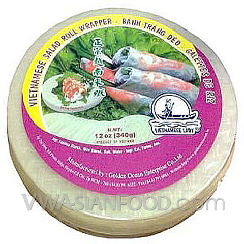 Vietnamese Lady Rice Paper (Box-25cm), 12 oz (40-Count)