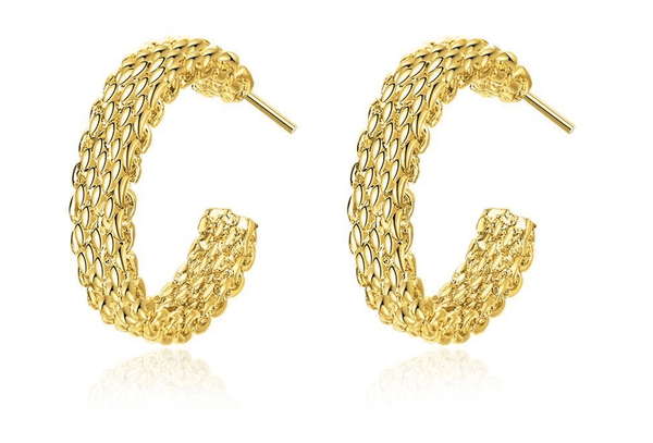 Scaly 18K Gold Plated Earrings