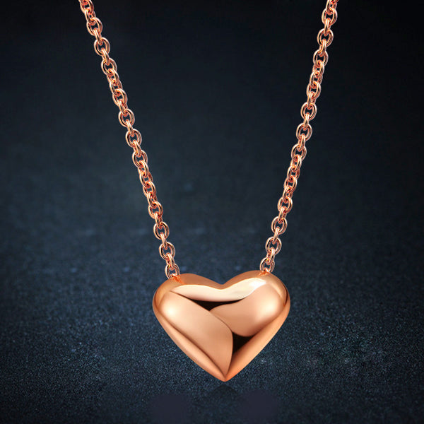 Simple Heart Pendant Necklace