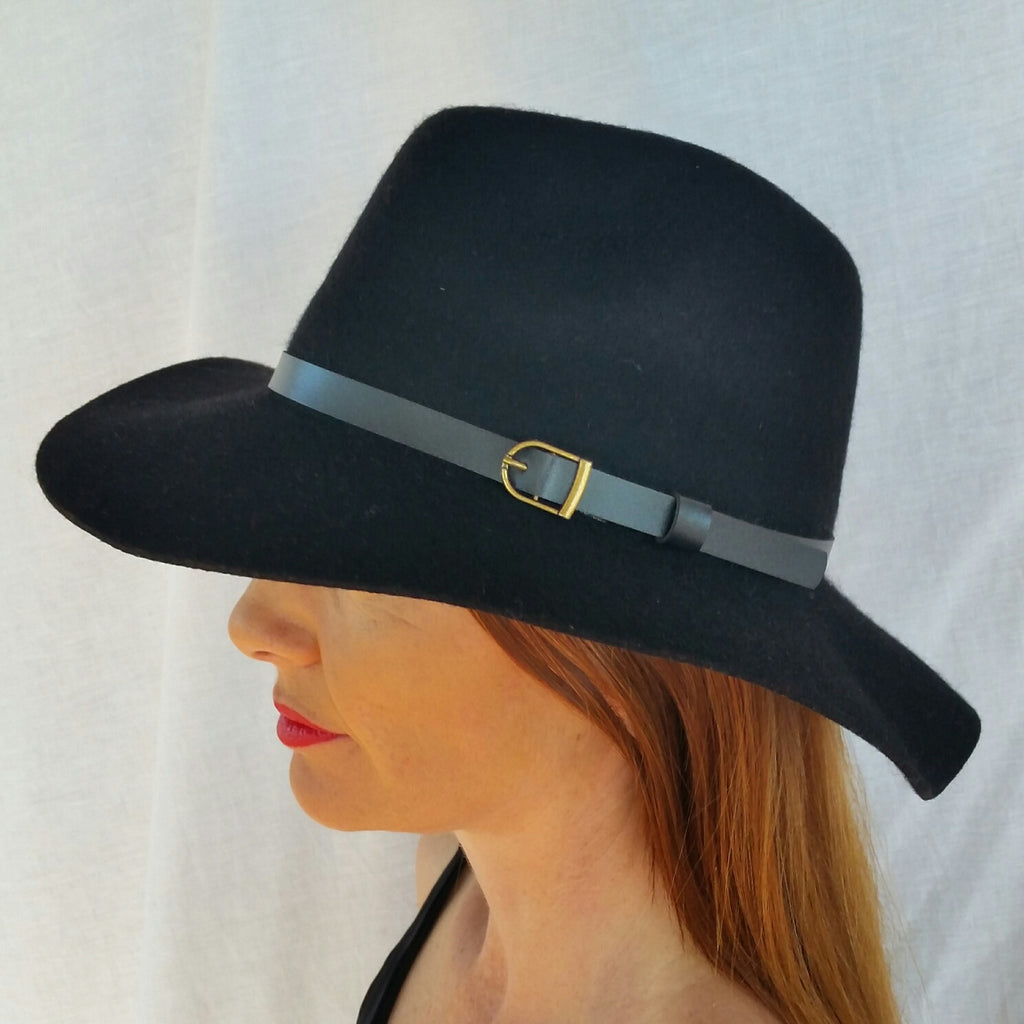 Fedora Hat Black by Little Dove Boutique