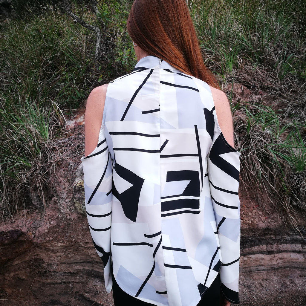 Enigma Long Sleeve Top print by August St