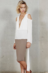 Into The Mirage Bell Sleeve - White