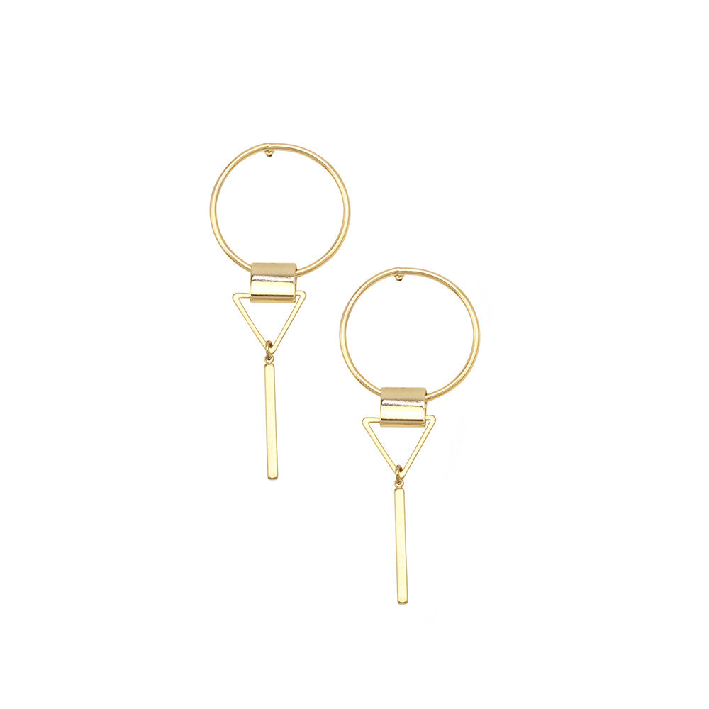 Tammie Earrings Gold by Jolie & Deen