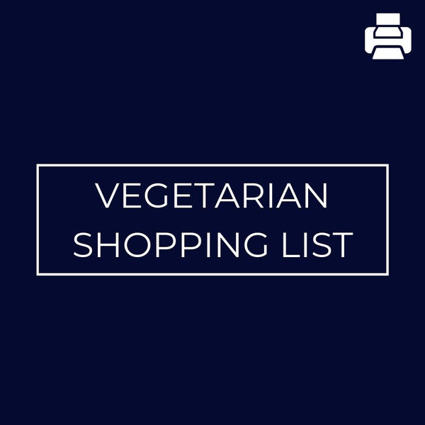 Vegetarian Shopping List - Mansfield Nutrition
