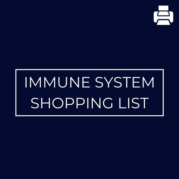 Immune System Shopping List - Mansfield Nutrition