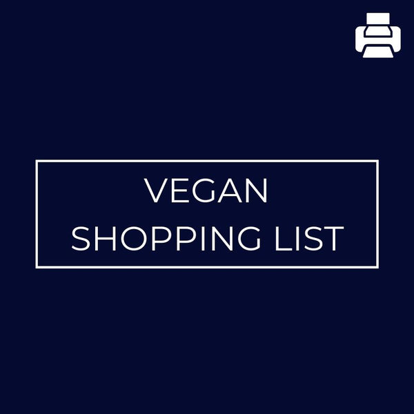 Vegan Shopping List - rosiemansfield