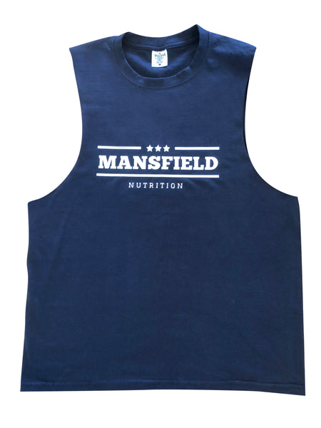 Mansfield Nutrition Kit: Navy Unisex Muscle Tank