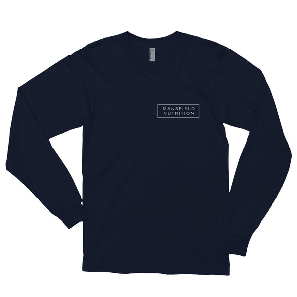 Mansfield Nutrition Navy Long sleeve T-shirt