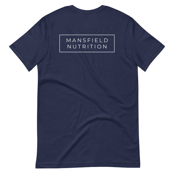 Mansfield Nutrition 'Classic' Short-Sleeve Unisex Navy T-Shirt - rosiemansfield