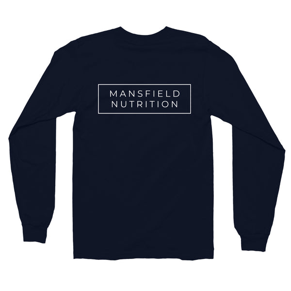 Mansfield Nutrition Navy Long sleeve T-shirt - rosiemansfield
