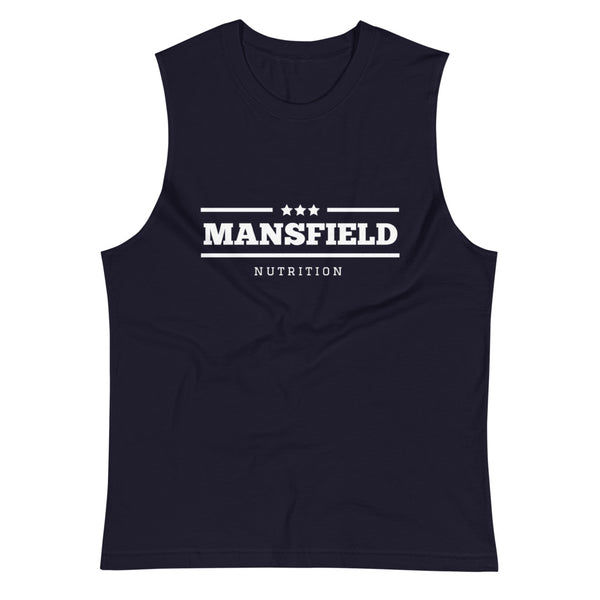 Mansfield Nutriton 'All Stars' Navy Muscle Shirt - Mansfield Nutrition