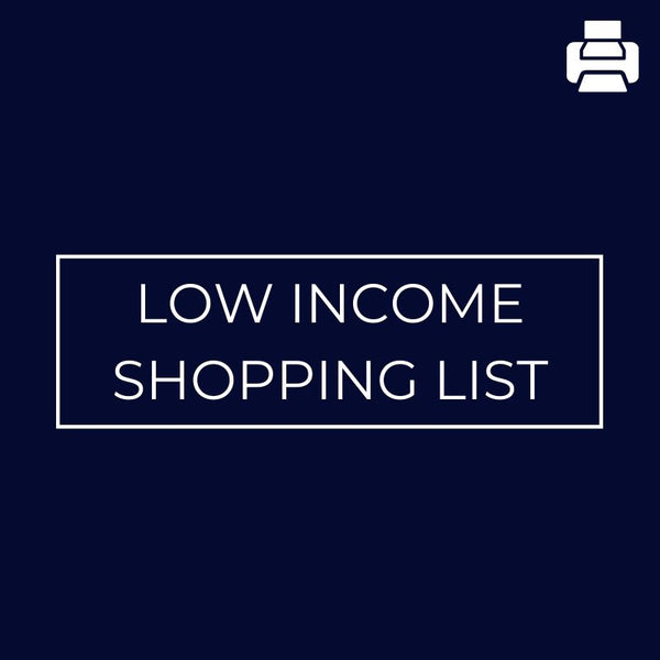Low Income Shopping List - Mansfield Nutrition