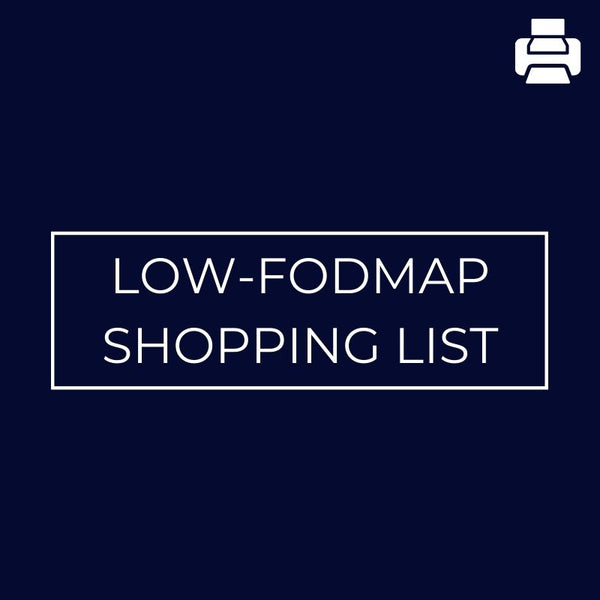 Low-Fodmap Shopping List - Mansfield Nutrition