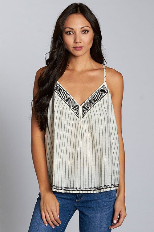 Yarn Dyed Striped Racer Back Tank