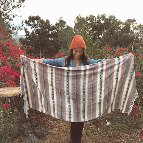 Burgundy Baja Beach Blanket