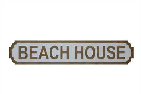 "Wooden ""Beach House"" Wall Decor"